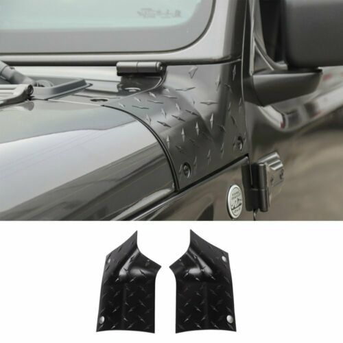 Black ABS Side Body Armor Side Cowl Cover For Jeep Wrangler JL JLU 2018 2019 2pc