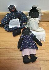 Vintage Folk Art Rag Dolls ~Primitive Cloth Black Americana~Handmade!