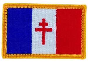 Patch-ecusson-brode-Drapeau-France-Libre-de-gaulle-Thermocollant-Insigne-Blason