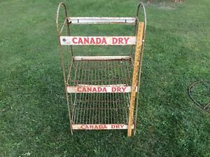 Excellent Details About Vintage Canada Dry Soda Store Display Rack Shabby Three Shelf Display Home Interior And Landscaping Ologienasavecom