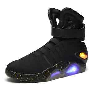 Future Light Up Black Trainers Shoes