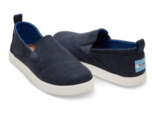 060a013daa1e Boys Toms Avalon Slip On Summer Shoes Navy Blue or Black UK 11
