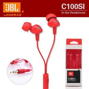 ab73d9116fc Image is loading Genuine-headphones-JBL-C100SI-Microphone-Inline-mic -control-