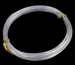 12 m fils d/'aluminium 1 mm Argent Bijoux Fil Bricolage à cintrer fil Aludraht c105