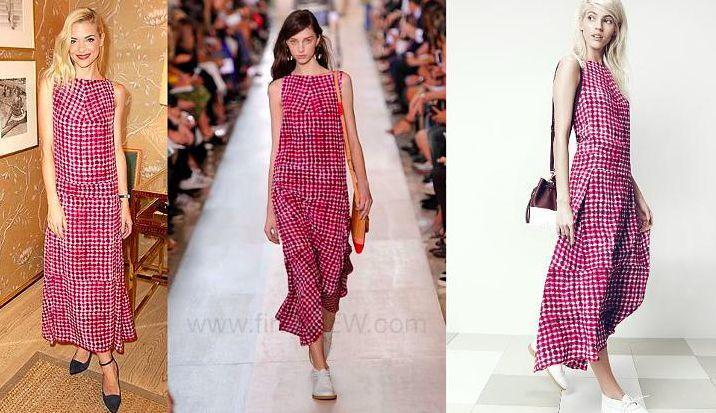 Tory Burch Tea Length Dress 595 Sonda 6 silk Runway  S M Celeb