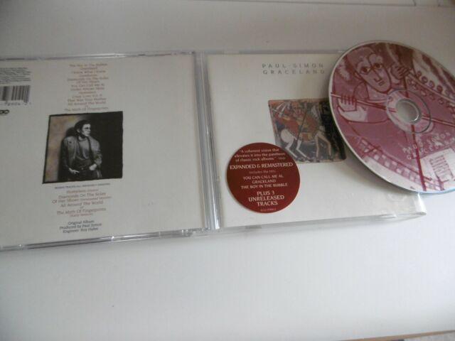 Paul Simon Graceland Remasterisé +3 Extra Titres CD Call Me au Boy en à Bulles