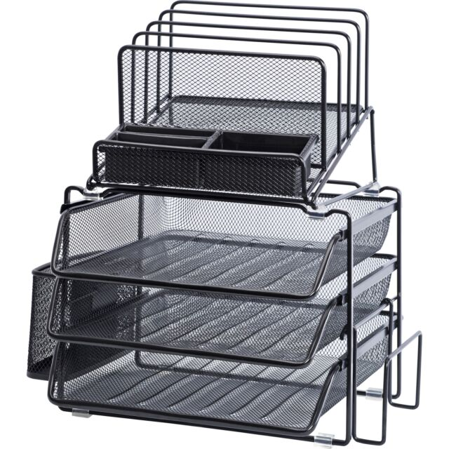 Lorell Divided 4 Tier Desktop Organizer 95251