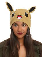 Pokemon Eevee W/ears Watchman Knit Tan Beanie Hat Ski Cap Cosplay Nintendo