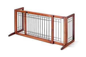 2 in 1 wood extra tall freestanding gate