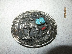 Native-American-Indian-Inlaid-Turquoise-Western-Belt-Buckle