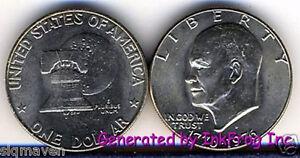 1976-D-Type-1-Eisenhower-Dollar-Choice-Gem-Bu-from-mint-sets-No-Reserve