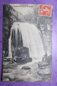 Tarjeta-postal-antigua-SASSENAGE-La-Gran-Cascada-de-lo-Furon