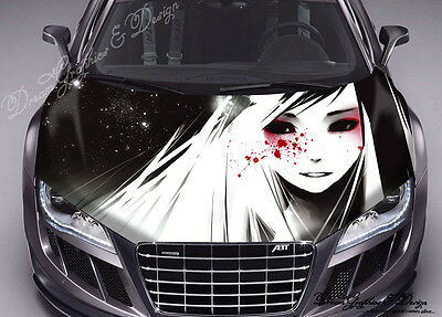 Girl Sight Hood Full Color Graphic Wrap Decal Vinyl Sticker Fit any Car #316