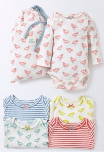 24 Months 2-3 Years RRP £35 Baby Girls Bodysuits 5 Pack New Ex Baby Boden NB