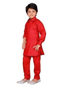 Actif Kids Indian Wear Bollywood Style Pathani Costume Pour Garçons Taille 2-3 Ans à 15-16 Y-afficher Le Titre D'origine