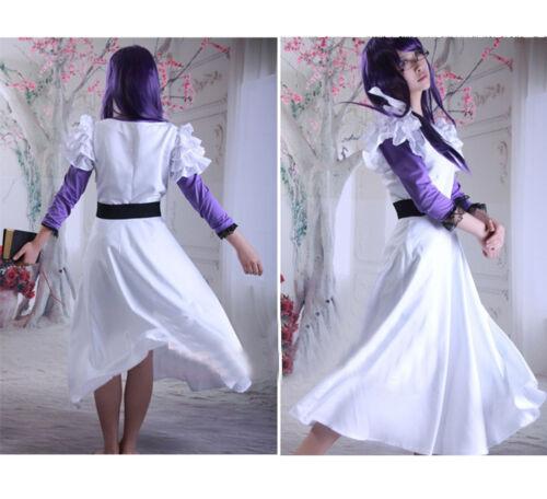 Tokyo Ghoul Rize Kamishiro Weiß Lila Süß Kleid Kostüm Cosplay Nach Maß Neu