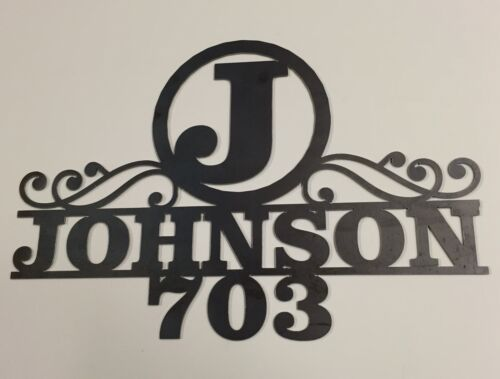 PERSONALIZED HOUSE ADDRESS PLAQUE W// LAST NAME AND STREET NAME 20 X 30 10110