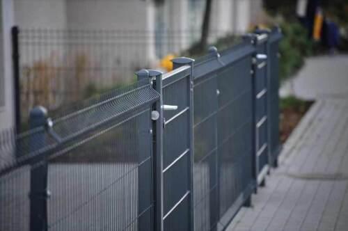 Zaun Gartenzaun 3D Zaun Einstabzaun inkl Pfosten 15 Lfm 103cm hoch Anthrazit