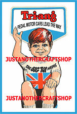 Triang Pedal Car 1960's Large Size Poster Advert Leaflet Shop Display Sign