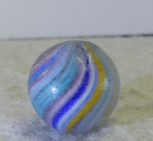 #12713m Vintage German Handmade Onionskin Marble .60 Inches