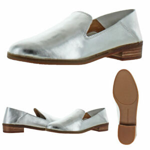 46c5a93ea3c Lucky Brand Cahill Women s Leather Slip On Stacked Heel Smoking ...