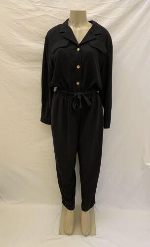 VTG Saint Germain Paris Size Large Black With Gold