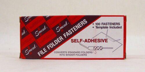 """100 per Box   68210 1/"""" Capacity Smead Self-Adhesive Fastener Brown"""