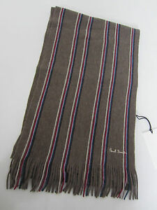 Paul-Smith-SCARF-multistripe-034-MAINLINE-034-100-laine-unisexe-6ft-x-10-034-made-in-italy