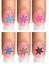 Indexbild 15 - Nail Tattoo Nail Art Schneeflocken Eiskristalle Winter Weihnachten + Glitter