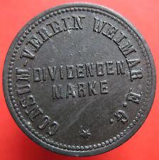 Old Rare Deutsche token - Weimar - Consum Verein -20 -33082.3 -mehr am ebay.pl