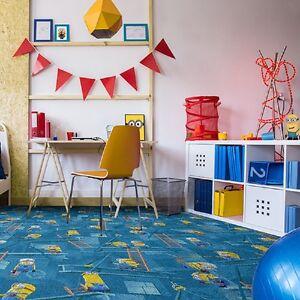 Kinderteppich-Minions-77-Spielteppich-Teppich-Disney-Junge-Maedchenzimmer-blau