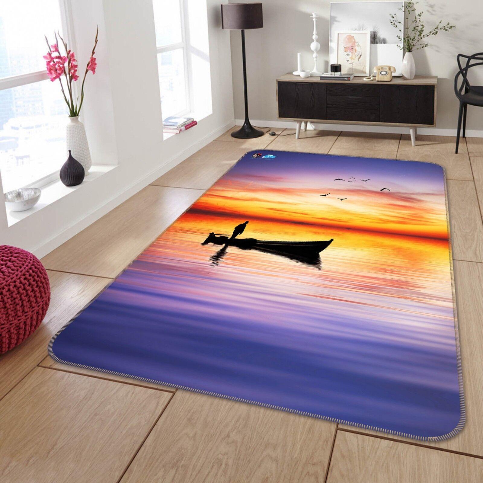 3D CIELO MARE BARCA 788 tappetino antiscivolo tappeto camera Tappetino Qualità Elegante foto Tappeto UK