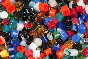 DOTS Mardi Gras ASSORTED Uroboros System 96 COE Glass Rod Bits Full Jar Circles