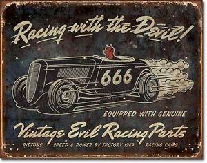 Image Is Loading Vintage Evil Racing Hot Rod Garage Rat Rods