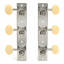 Golden Age Restoration Tuners, Solid Peghead, Short post, bright nickel