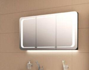 Moderner Design  Spiegelschrank 120 cm mit LED Lichtband in den