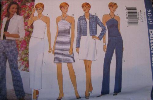 5049 Vintage Butterick SEWING Pattern Misses Jacket Dress Pants NEW OOP FF UNCUT