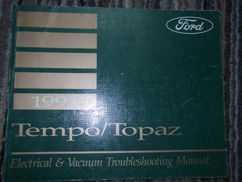 1993 Ford Tempo Wiring  U0026 Mercury Topaz Electrical  U0026 Vacuum