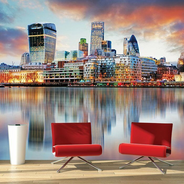 London Sonnenuntergang Skyline Tapete Schlafzimmer Büro ...