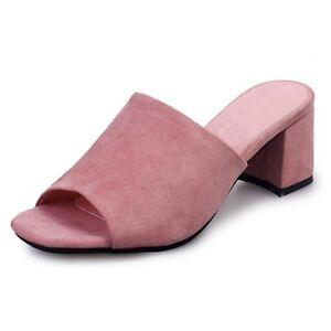 e0e9e3017a9 Womens Summer High Heels Sandals Women Mules Ladies Fashion Thick ...