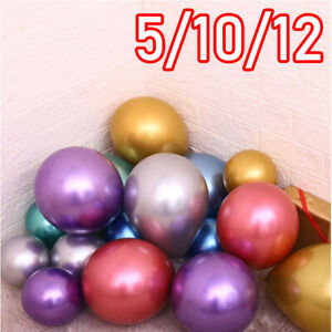 10-CHROME-BALLOONS-METALLIC-LATEX-PEARL-5-034-10-034-12-034-18-034-Helium-Balloon-Birthday-UK