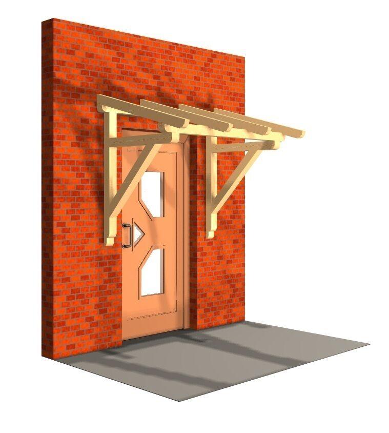 Haustürüberdachung Haustürvordach Türüberdachung KVH Tür Haustür Haus