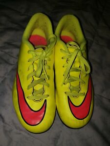 d15e5dc39bf9 Nike Mercurial Victoy Soccer Cleats Neon Yellow Hot Pink (651642-760 ...