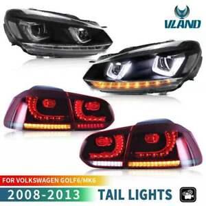 VLAND-Feux-Avant-amp-Feux-Arriere-pour-VW-Golf-6-MK6-GTI-R-08-13-avec-sequentielle