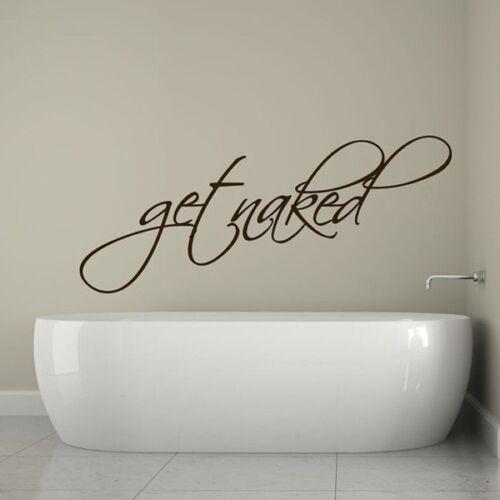 Get Naked Bathroom Wall Sticker Waterproof Vinyl Adhesive Decoration Black TM