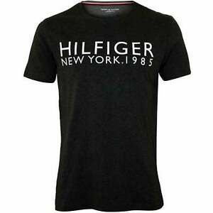 10d0152f Tommy Hilfiger Hilfiger New York Men's T-Shirt, Charcoal Heather | eBay