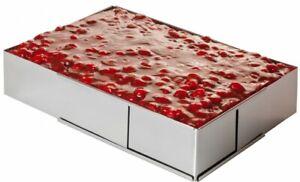 Edelstahl Verstellbar Backrahmen eckig 5 cm hoch Torten Kuchen Ring stufenlos