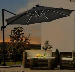 Das Bild Wird Geladen Schneider Schirme Ampelschirm  300 Cm LED Lichtleisten Rhodos
