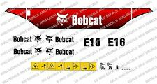 BOBCAT E16 Mini Escavatore Adesivo Decalcomania Set