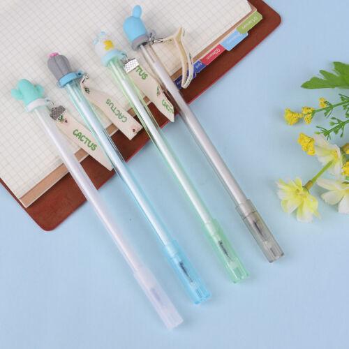 2pc 0.38mm Cactus gel pens kawaii green plants neutral pen stationery jx